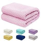 "Baby Blanket for Girls and Boys - 30""x40"" Pink - Premium Lightweight Fleece"