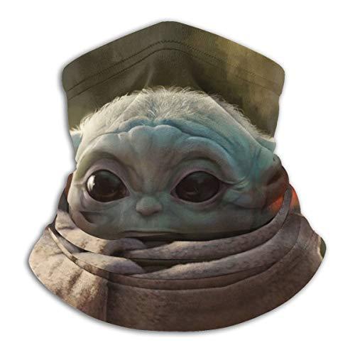 Baby Yoda Star Wars Artwork Nackenwärmer Schal Unisex weich winddicht Neuheit Stirnband für Sport Wandern