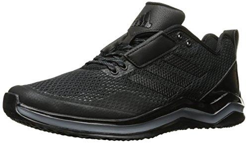 Adidas Men's Speed 3.0 Cross Trainer Q16553, Black/Black/Iron Metallic, 12 D(M) US