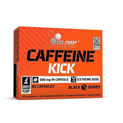 Olimp Caffeine Kick - 60 Kapseln - enthält eine hohe Dosis Koffein, Orange