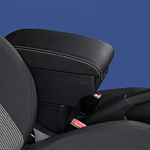 ZHAOHAOSC, para Peugeot 307Caja de reposabrazos Caja de Contenido de Tienda Central Accesorio de decoración de Estilo de Coche con portavasos USB-C-Black_Red_Line