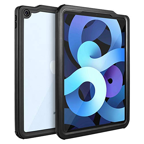 iPad Air 4 Waterproof Case 2020, iPad Air 4th Gen 10.9 inch Underwater Protective Dustproof Shockproof Case Cover with 360 Full-Body Protection,iPad Air 4th Generation case with Lanyard and Kickstand