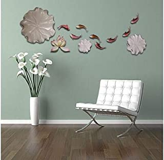 SIZOO - Wall Stickers - New Chinese Resin Lotus Fish Wall Mural Crafts Home Livingroom TV Background Wall Sticker Decorati...