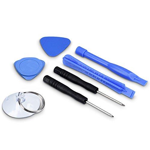 kwmobile Kit de 7 Herramientas para Smartphone – Juego de reparación y desmontaje de teléfono y Tableta, Destornillador, Herramienta de Apertura, plectre y Ventosa