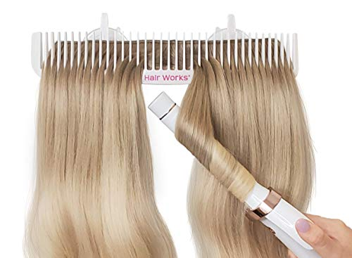 Hair Works ULTRA Hair Extension Holder - Professionally Designed to Securely Hold Extra Wide Wefts including Halos, Hand Tied Wefts, Beaded Wefts and Full Bundles While You Wash, Color, Style & Store
