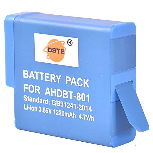 DSTE Ricambio Batteria per GOPRO AHDBT 801 e HERO 8, HERO 7, HERO 6, HERO 5 Digital Fotocamera