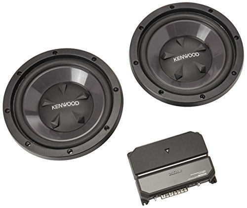 Kenwood P-W1221 Car audio Package includes KAC-5207 2-channel amplifier and Two KFC-W112S 12' subwoofers