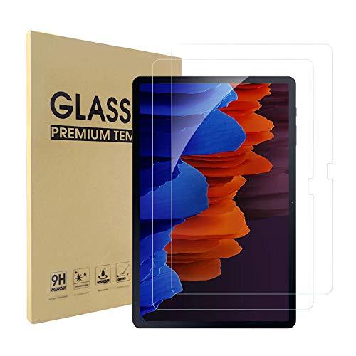 Simpeak Pellicola Protettiva Compatibile per Samsung Galaxy Tab S7+/ S7+ 5G[2 Pack], Vetro Temperato Protezioni Schermo HD Compatibile con Galaxy Tab S7 Plus 12.4' [Anti-graffio]