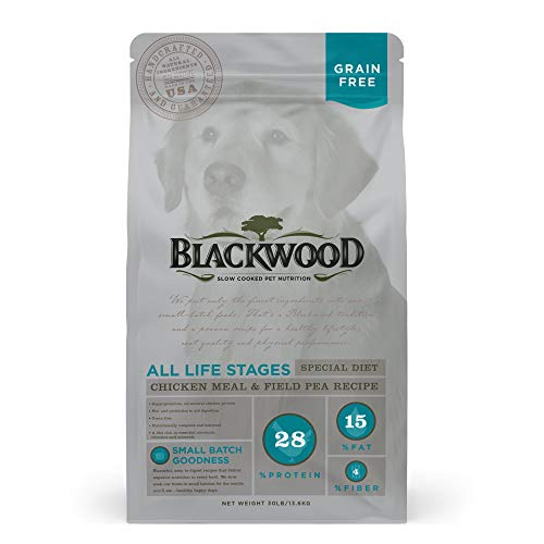 Blackwood Pet Food 22312 All Life Stages, Special Diet, Grain Free, Chicken Meal & Field Pea Recipe, 30Lb.