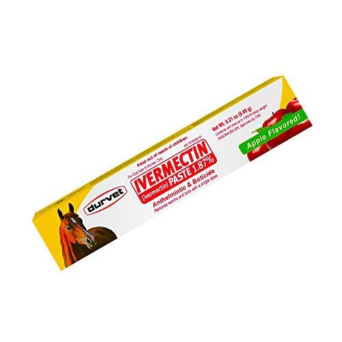Ivermectin Paste Dewormer - 6.08g dose, 1.87% Apple Flavor (Update Version)