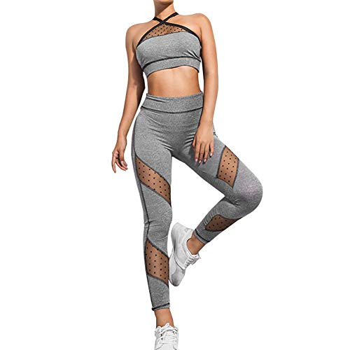 QKJZWJ Vrouwen Yoga Pak 2 Stuk Outfit, Sportkleding/Sexy uitsparing Gym Kledingen/Dames Trainingspak Set/Joggen Fitness Sport Running Workout Outdoor Kleding Sets (S)