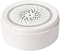 SNOWINSPRING Sensor de Alarma de Temperatura y Humedad Sirena Wifi Compatible con Asistente de Hogar