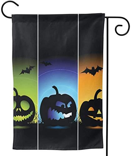 Not Applicable Halloween Banner Garten Flagge Vertikale Doppelseitige Bauernhaus Summer Yard Outdoor Dekor 12,5 x 18 Zoll