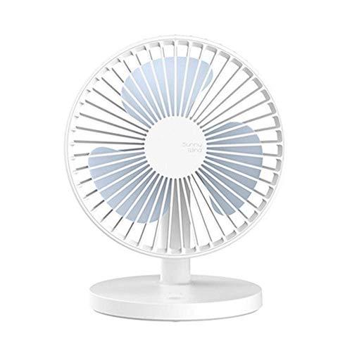 Mini-airco ventilator voor op het bureau, draagbaar, voor reizen, studentenkamer, bureaustoel, grote USB-ventilator, oplaadbaar