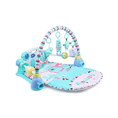 Z-Color Juega al Gimnasio de Piano, Estera de Juego de bebés recién Nacidos con Centro de Actividades, música y Sonidos, Adecuado Desde el Nacimiento Piano de Pedal para niños