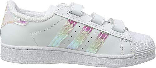 adidas Superstar CF C, Scarpe da Ginnastica Unisex-Bambini, Ftwr White/Ftwr White/Ftwr White, 29 EU