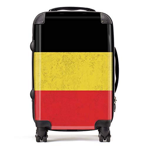 België vlag West-Europese vlaggen koffer handbagage met TSA-blokkering 4 spinner wielen bagage 58cm 52Ltr