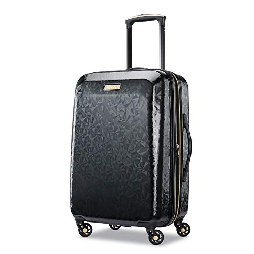 American Tourister Belle Voyage Hardside Luggage with Spinner Wheels, Black, Carry-On 21-Inch