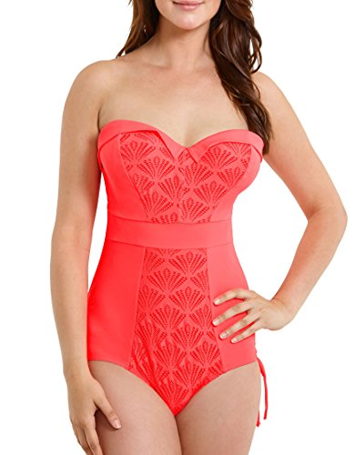 Curvy Kate Women's Siren One Piece Swimsuit, Coral, 28H