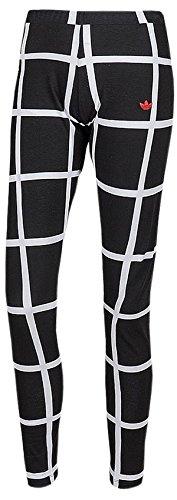 adidas Originals Damen Hose Modern Tartan Leggins (34, schwarz-weiß)