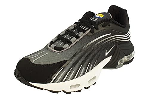 Nike Air Max Plus II Herren Running Trainers CQ7754 Sneakers Schuhe (UK 8.5 US 9.5 EU 43, Black White Smoke Grey 001)
