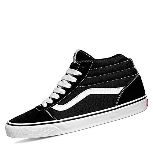 Vans Herren Ward Hi Sneaker, Schwarz ((Suede/Canvas) Black/White C4R), 39 EU