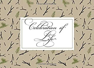 Celebration of Life: Rustic Woodland Funeral Guest Book