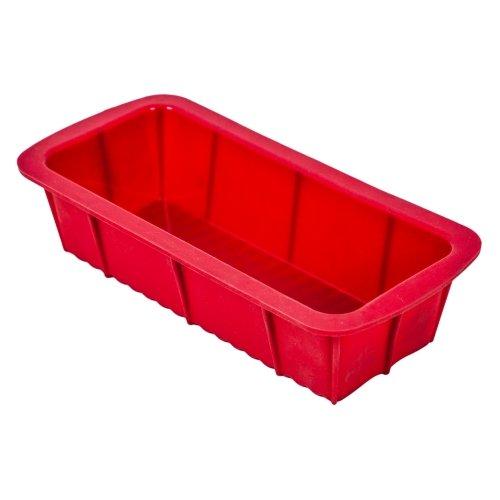 Guardini Juliette, Stampo Plumcake 24x13cm, Silicone alimentare, Colore rosso