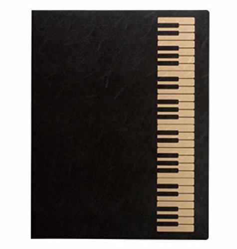ナカノ ミュージックレッスンファイル 鍵盤 ブラックゴールド FL-95/KB/BLG