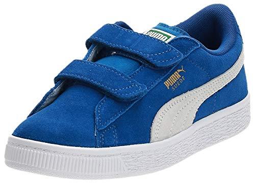 Puma Unisex-Kinder Suede 2 straps PS Low-Top, Blau (Snorkel Blue White), 31 EU