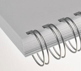 Renz - Reliure métallique RENZ ONE PITCH® - 16.0 mm A4 23 Anneaux Pas 2:1 - Argent, 50 Pezzi