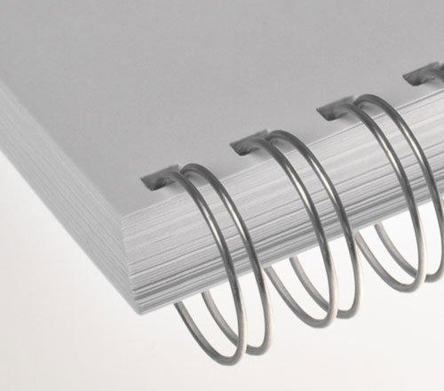 Renz One Pitch Drahtkamm-Bindeelemente in 2:1 Teilung, 23 Schlaufen, Durchmesser 32.0 mm, 1 1/4 Zoll, silber/glänzend