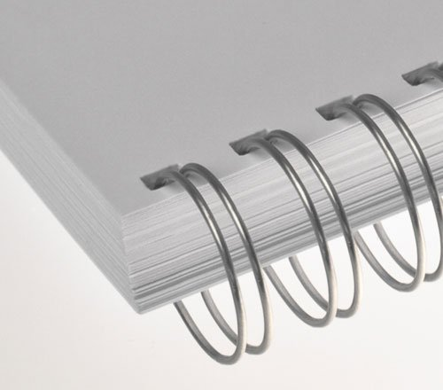 Preisvergleich Produktbild Renz One Pitch Drahtkamm-Bindeelemente in 2:1 Teilung,  23 Schlaufen,  Durchmesser 11.0 mm,  7 / 16 Zoll,  silber / glänzend
