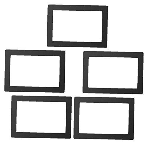 5 piezas de cubierta protectora que cura la luz de Ld-002h / Mono de fotones X / por Wanhao D8 UV, la impresora 3D de protección de viscosa cubierta a prueba de polvo para Proteger la impresora