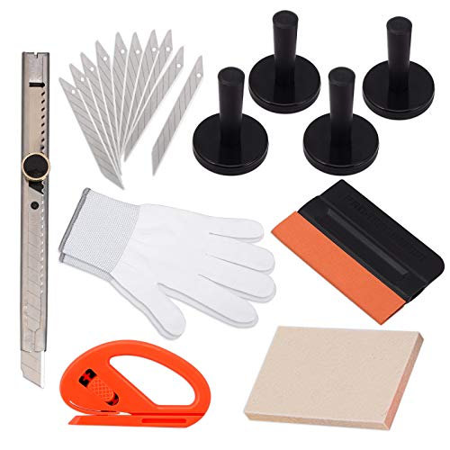 EHDIS Window Tint Tool Kit for Vinyl Wrap Car Auto Glass Protective Film Installing Vehicle Pro Windshield Film Wrap Scraper Application Tool Set