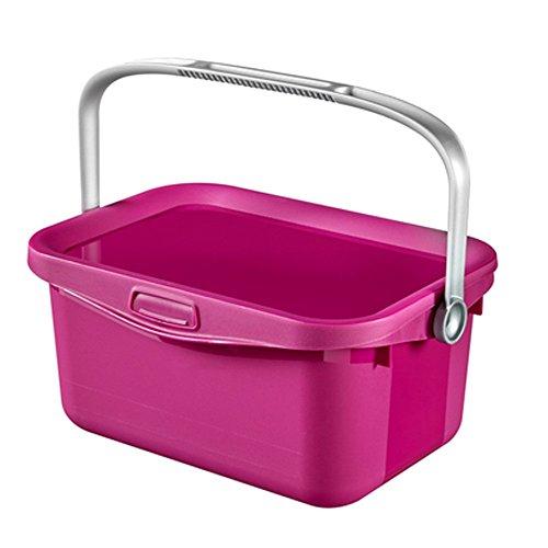 Curver Waschpulver Plastik Aufbewahrungsbehälter, transparent lila, 3L, 26x18xh11cm, EF505849
