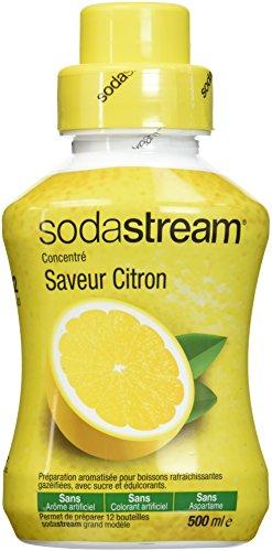 Sodastream Concentré Saveur Citron – Sans Arôme Artificiel, Sans Colorant Artificiel, Sans Aspartame – 500 ml