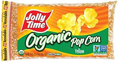 product image for JOLLY TIME Organic Yellow Kernel Popping Corn (Pack of 4)