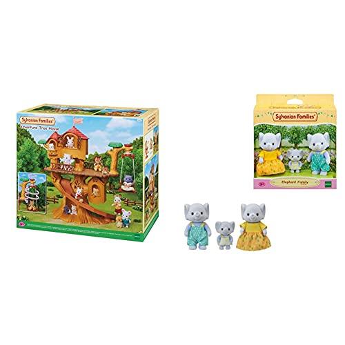 SYLVANIAN FAMILIES Casa De Aventuras En El Árbol Doll House (Epoch para Imaginar 05494) + -5376 Mini Muñecas Y Accesorios, Multicolor (Epoch 5376) , Color/Modelo Surtido