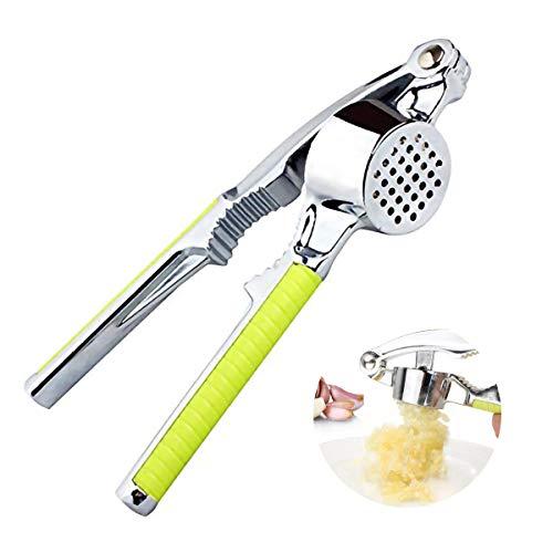 Trituradora de ajos de acero inoxidable con balancín de ajo multifunción Jengibre exprimidor Chopper Cascanueces, Nuez Nuez Alicates de nogal Herramienta de cocina de mano