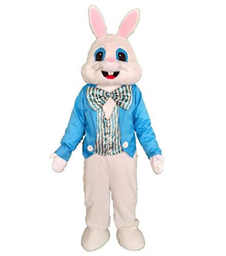 SANEYDER Blaue Weste Ostern Kaninchen Maskottchen Kostüm Erwachsene Halloween Kostüm Fasching Party Kleid
