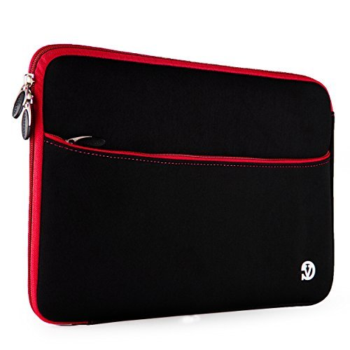 VanGoddy Neoprene Sleeve Cover for Samsung Galaxy View 18.4 inch Tablets (Red Trim)