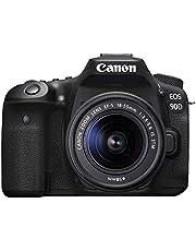 Canon 90D Digital SLR Camera with 18-55 IS STM Lens Black