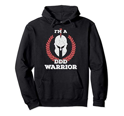 I'm a DDD Warrior Degenerative Disc Disease Awareness Shirt Felpa con Cappuccio