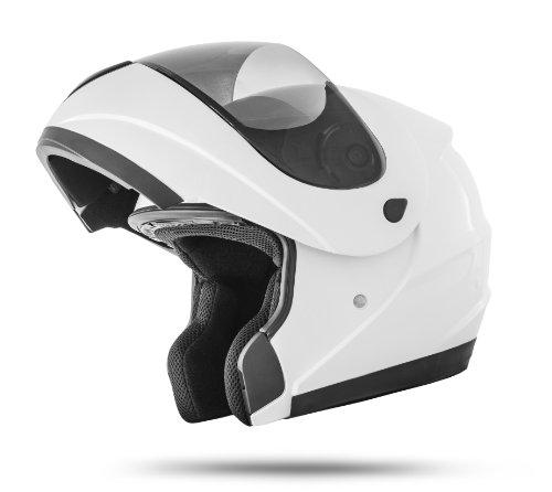 ATO Moto K71 Weiß Klapphelm Integralhelm Motorradhelm Jethelm ECE 22-05 Größe: L 59/60cm