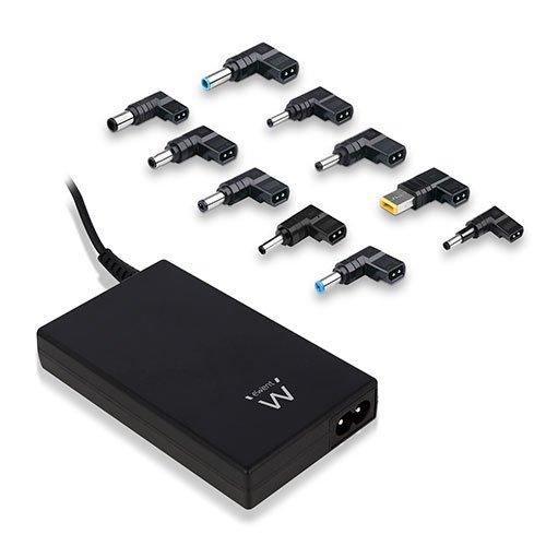 Ewent EW3988 Universal 90W Negro Adaptador e inversor de Corriente - Fuente de alimentación (100-240, 50/60, 90 W, 20V,18.5V,19V,19.5V, Universal, Portátil)