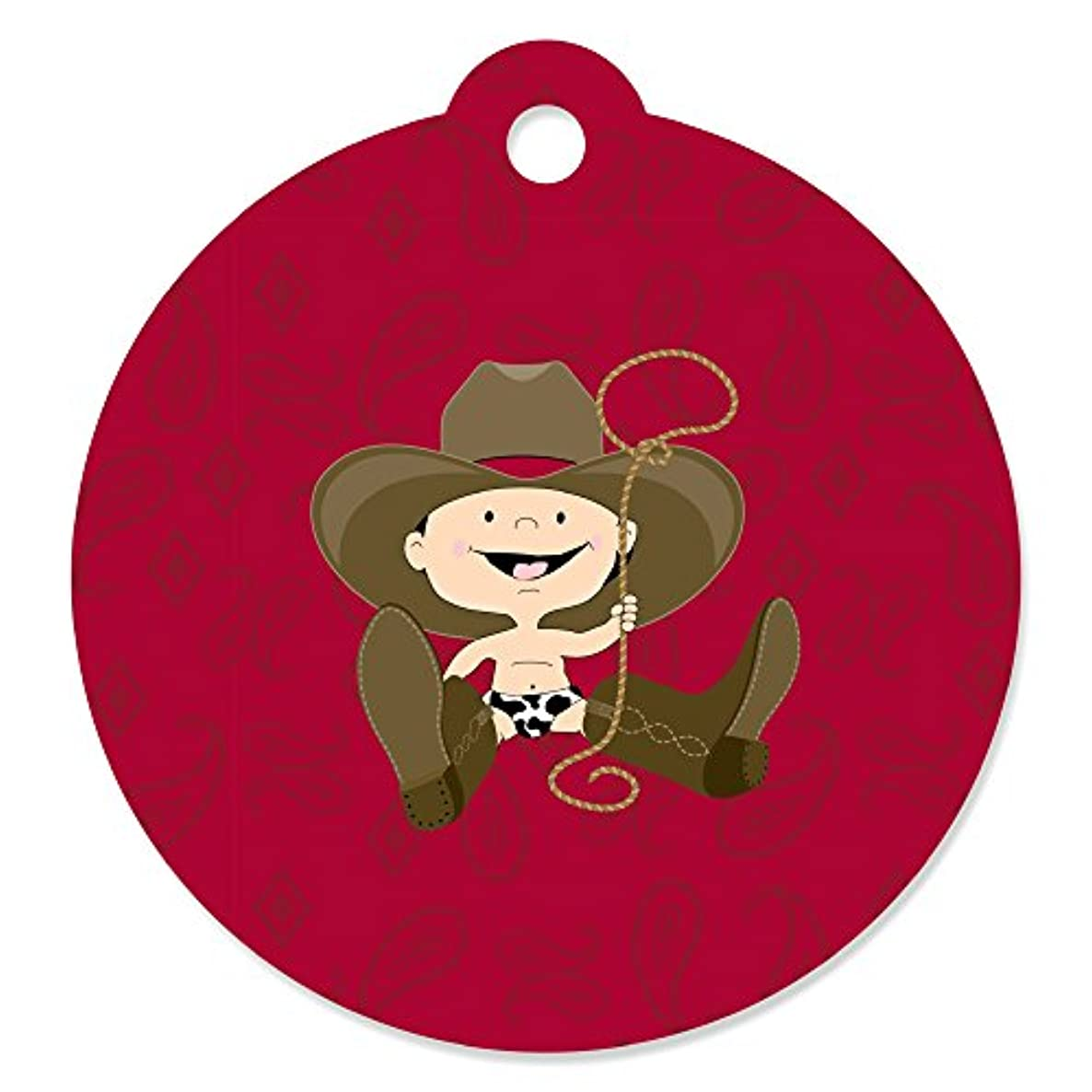 Little Cowboy - Western Baby Shower or Birthday Party Favor Gift Tags (Set of 20)