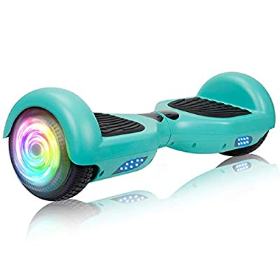 """SISIGAD Hoverboard Self Balancing Scooter 6.5"""" Two-Wheel Self Balancing Hoverboard with LED Lights Electric Scooter for Adult Gift UL 2272 Certified - Green"""