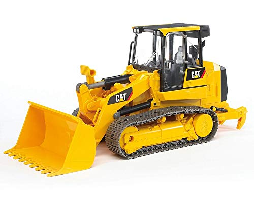 Bruder Toys - Construction Realistic CAT Track Loader with Openable Cabin Doors and Adjustable/Detachable Loading Arm - Ages 4+