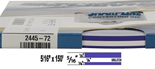 "Universal Sharpline 0005007 - Auto Customizing Dual Pinstripe - 5/16"" x 150' (1/8"" Stripe, 1/8"" Gap, Then 1/16"" Stripe) - 007-Regal Purple"